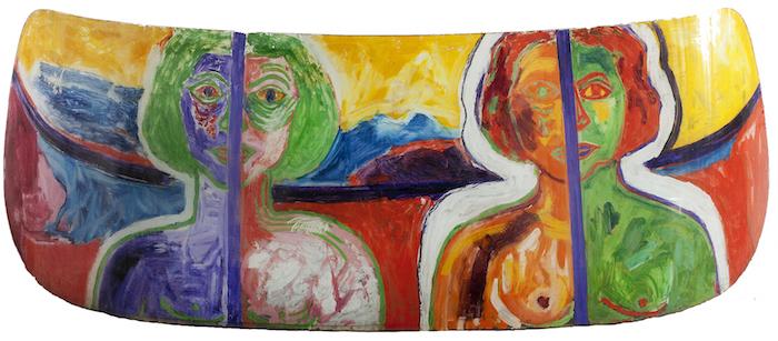 Miriam Laufer, Double Portrait (windshield)