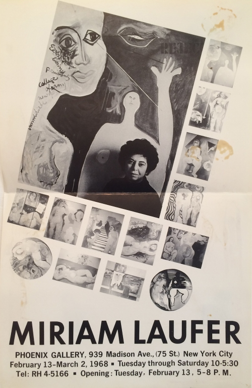 Miriam Laufer exhibition poster 1968
