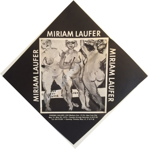 Miriam Laufer exhibition poster 1970