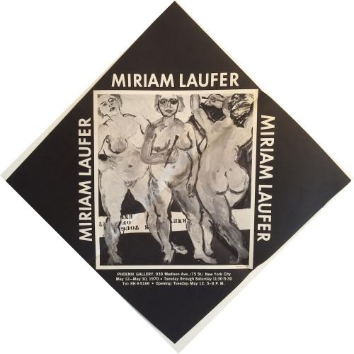 Miriam Laufer exhibition poster 1970
