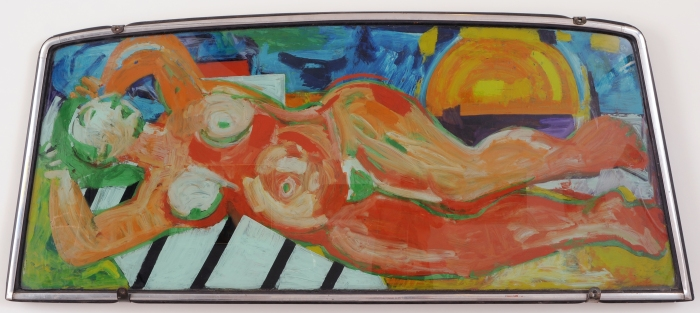 Miriam Laufer, untitled windshield painting